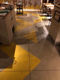 Floor Mural Painting for El Vez
