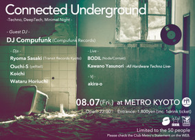 8/7 Fri.  Connected Underground