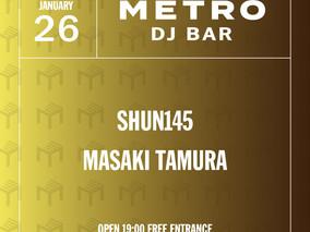 <延期>1/26 Tue.  METRO DJ BAR