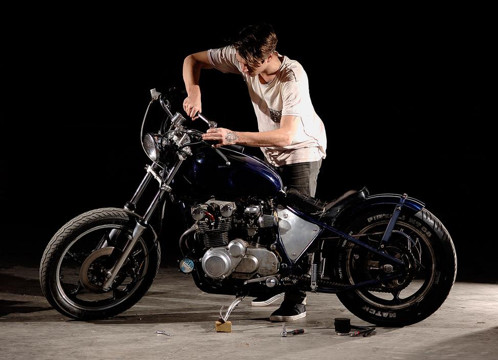 Horsey and his bike.jpg