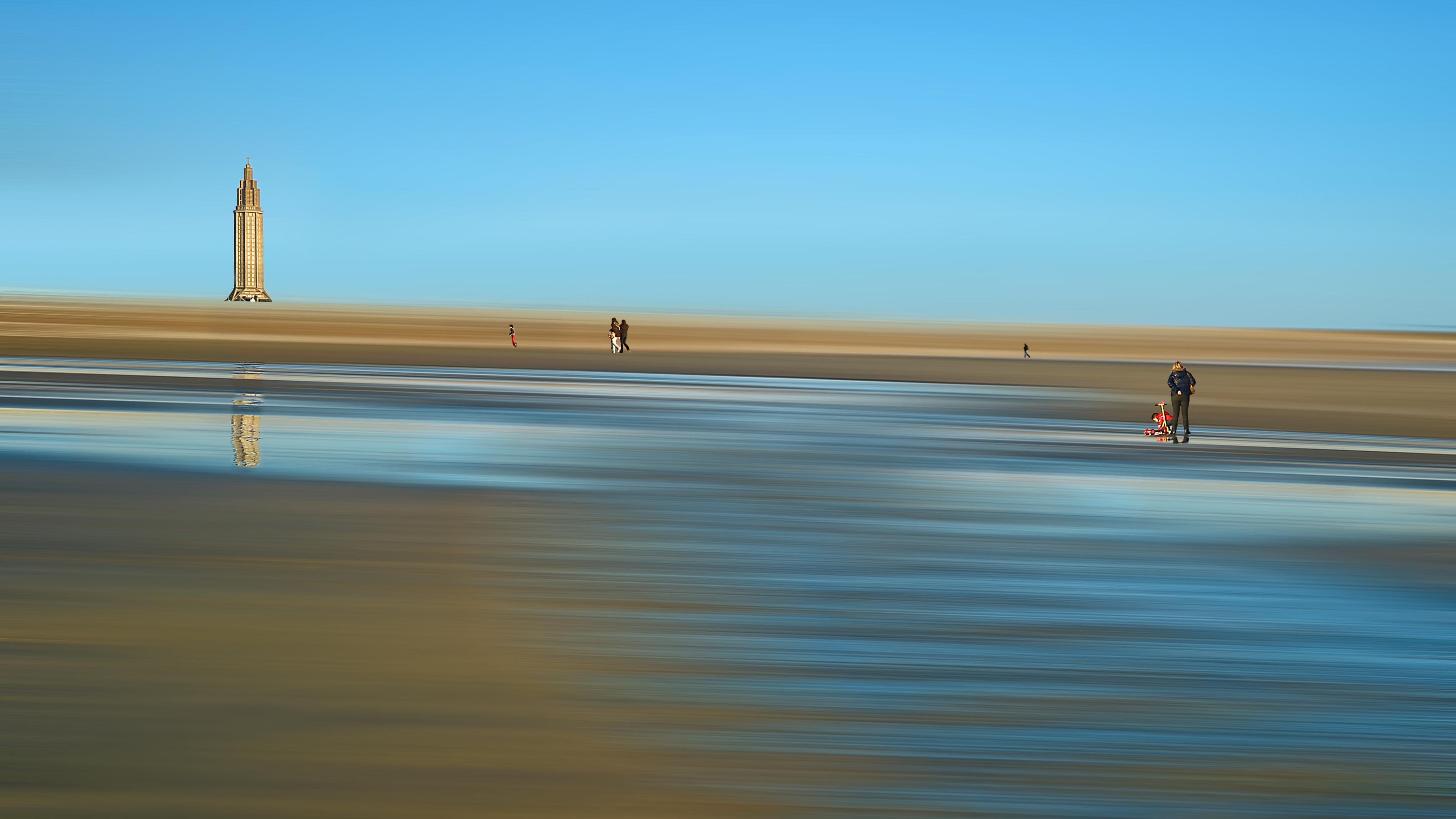 A marée basse - Le Havre