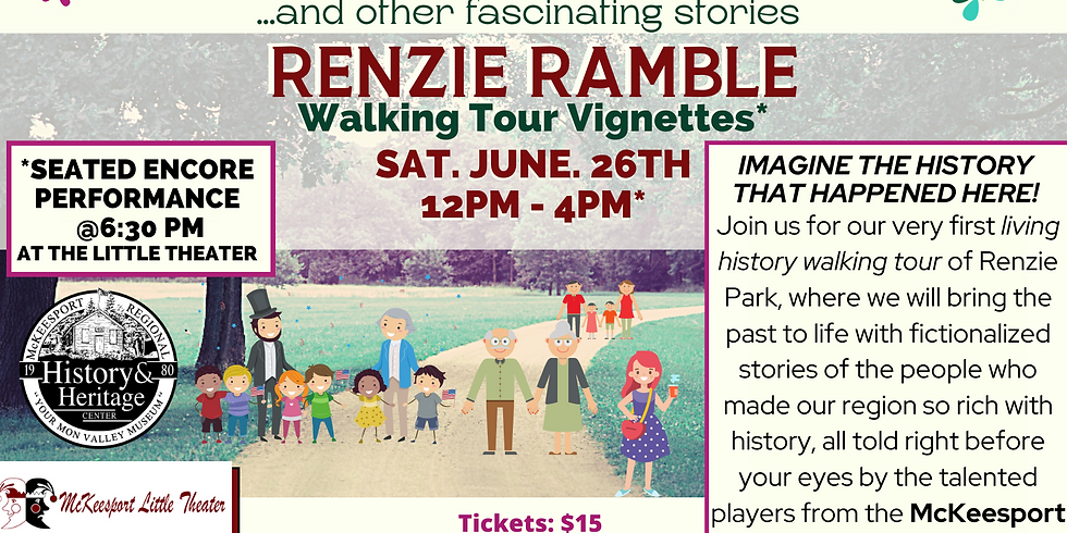 ENCORE: George Washington Slept Here....and other fascinating stories Renzie Ramble Walking Tour Vignettes (1)