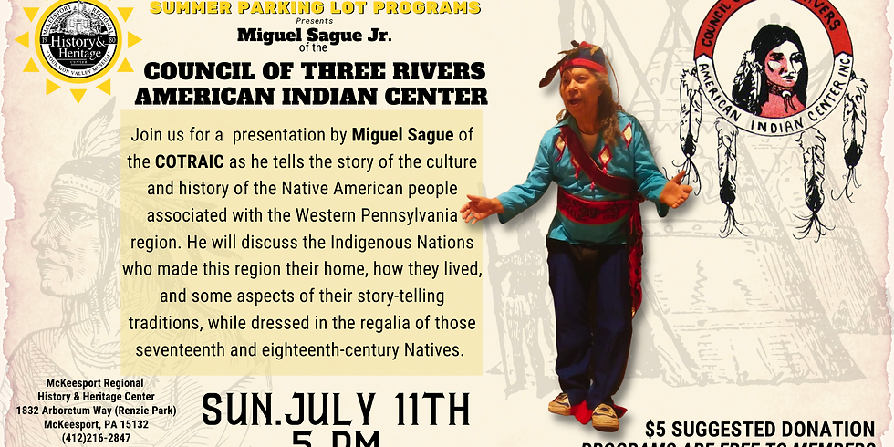 Miguel Sague Jr. of the Council of Three Rivers American Indian Center