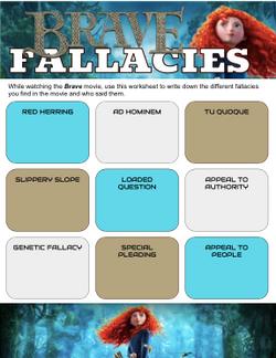 Brave Movie Fallacies Worksheet