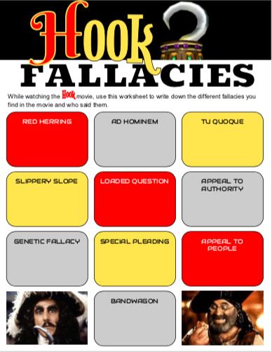 Hook Movie Fallacies Worksheet