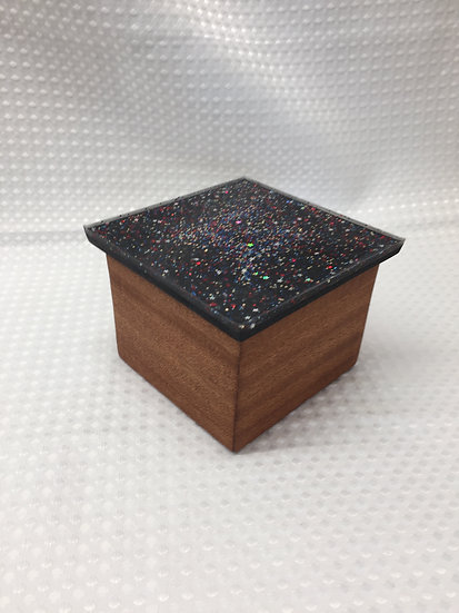 "Small Lift Lid Box ""Starry Night"""