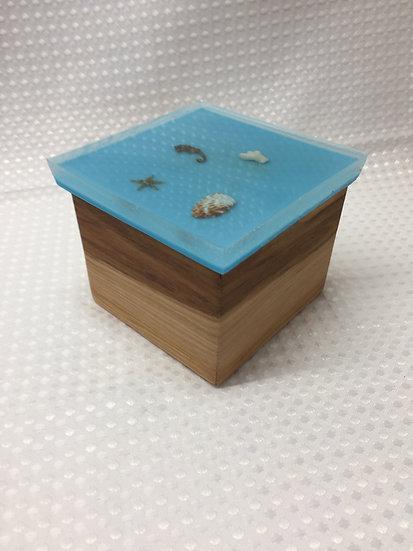 "Small Lift Lid Box ""Seascape"""