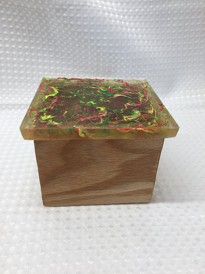 """Small Lift Lid Box """"Fluorescent Yellow/Green/Red"""""""