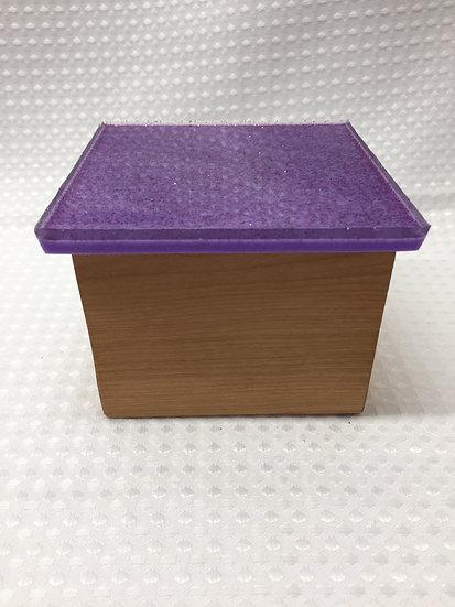 "Small Lift Lid Box ""Purple Sparkle"""