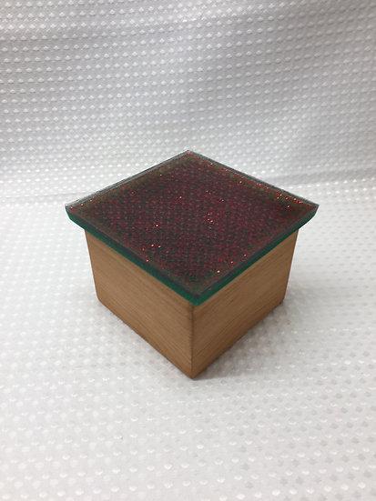 "Small Lift Lid Box ""Christmas Sparkle"""