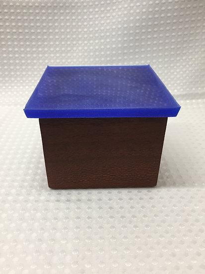 "Small Lift Lid Box ""Deep Blue Sparkle"""