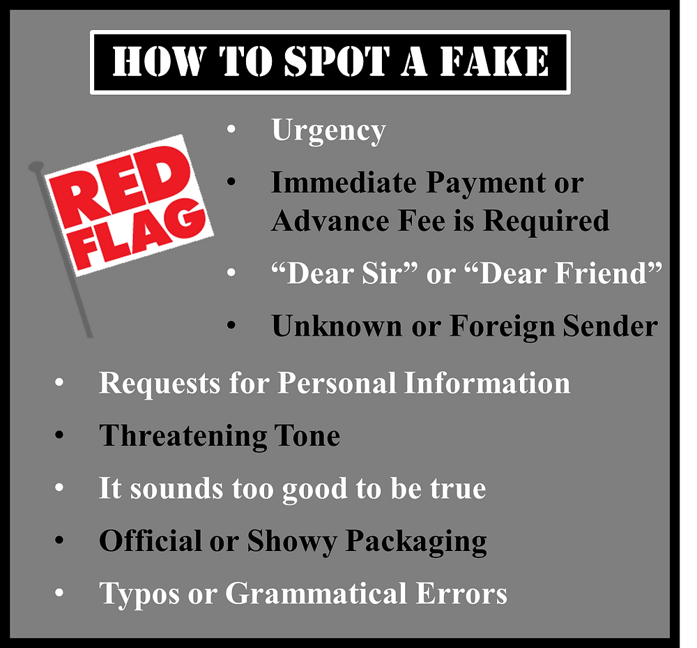 How to spot a scam.