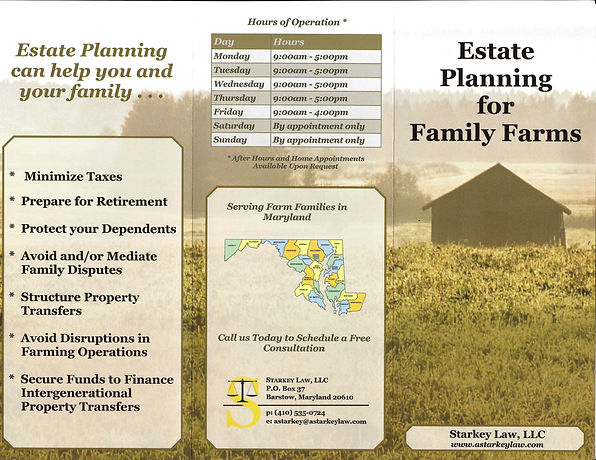 Estate Planning for Family Farms