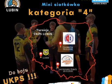"""Mini siatkówka - """"4"""" UKPS Lubin zagrają w Jastrzębiu Zdrój i Ozorkowie"""