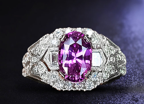 3.06ct Pink Sapphire Ring