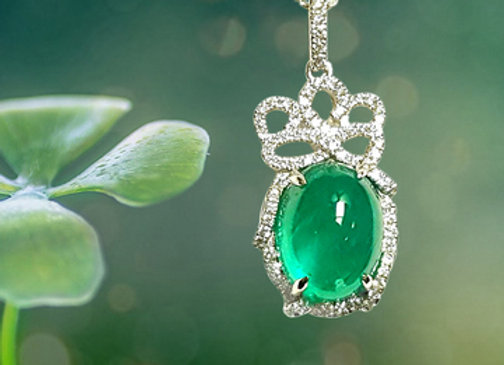 6.25ct Colombian Emerald Pendent