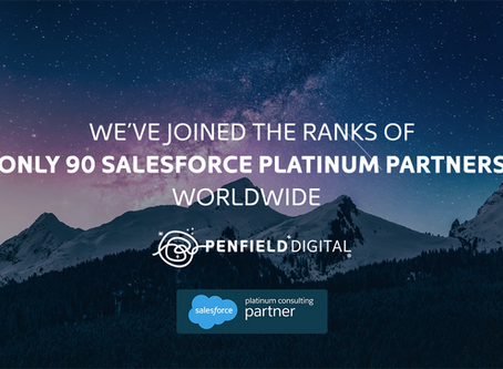 Penfield Digital Achieves Platinum Status in the Salesforce Consulting Partner Program