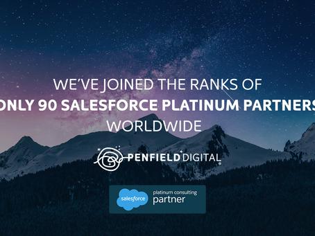 Penfield Digital Achieves Platinum Status in the Salesforce Consulting Partner Program