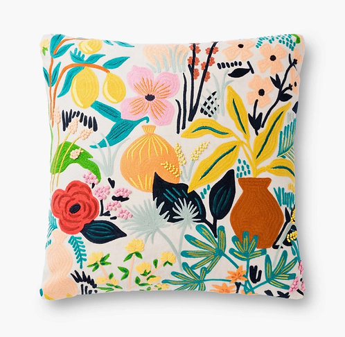 Terracotta Embroidered Pillow