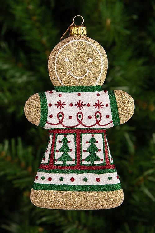 Spruce Gingerbread Girl Ornament