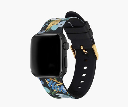 Garden Party Blue Apple Watch Band