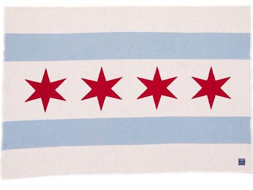 Chicago Flag Wool Throw