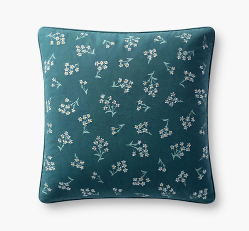 Petite Fleurs Embroidered Pillow