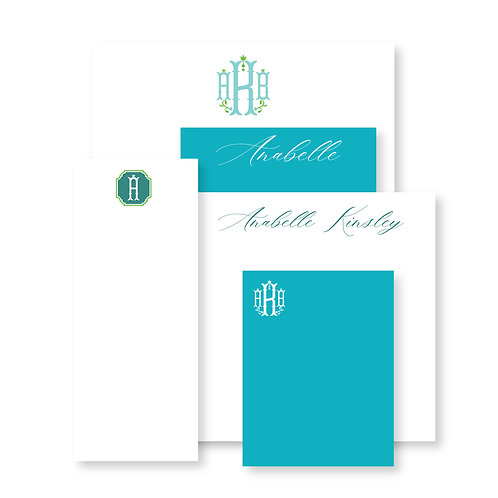Luxe Set of Teal Custom Notepads