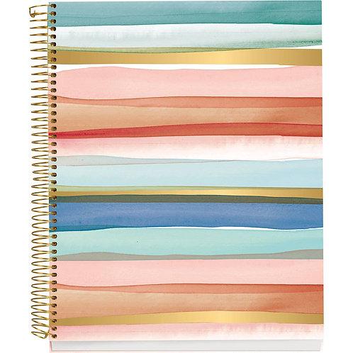 Watercolor Stripes Foil Journal