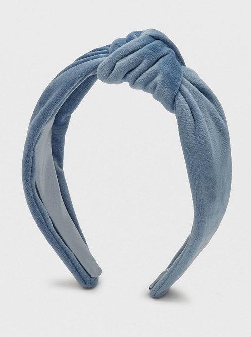 Velvet Blue Knot Headband
