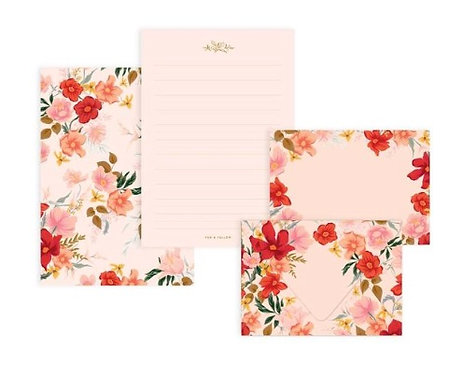 Floral Writing Set