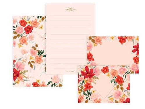 Floral Writing Set