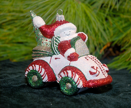Peppermint Christmas Cruisin' Ornament