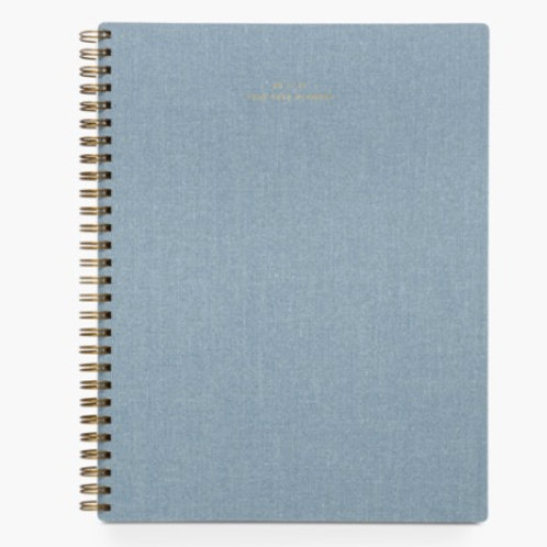 20-21 Year Task Planner - Chambray Blue