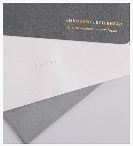 Appointed Embossed Letterhead