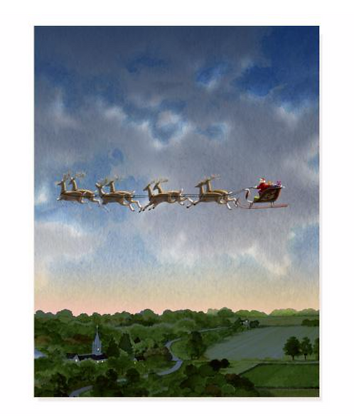 Christmas Eve Flight Holiday Card Box Set