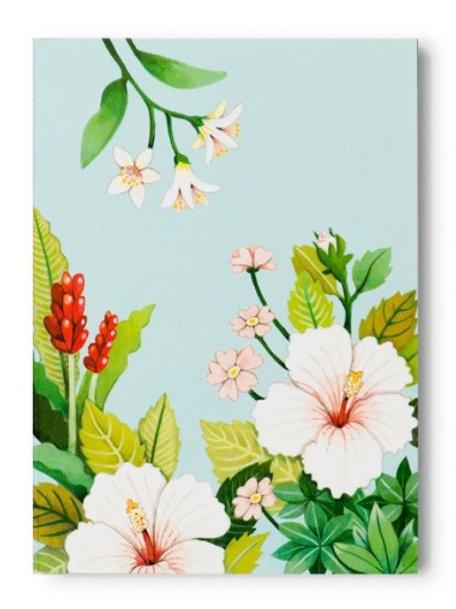 Blue Floral Tear-Off Notepad