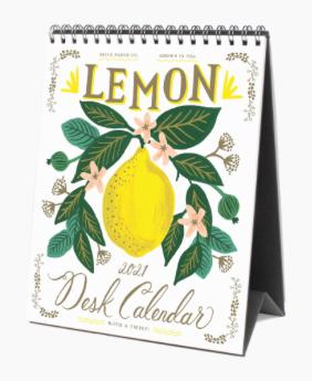 Rifle Paper Co. 2021 Lemon Desk Calendar