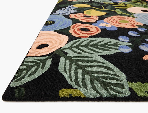 Garden Party Wool-Hooked Rug