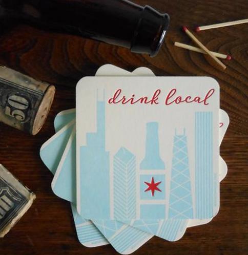Chicago Drink Local Coaster