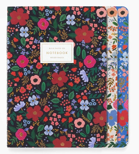 Rifle Paper Co. Wild Rose Stitched Notebook Set