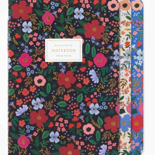 Wild Rose Stitched Notebook Set