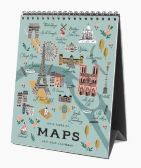 Rifle Paper Co. 2021 City Maps Desk Calendar