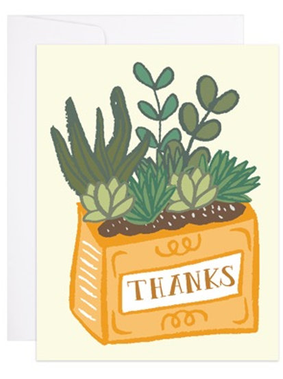 Succulent Thanks