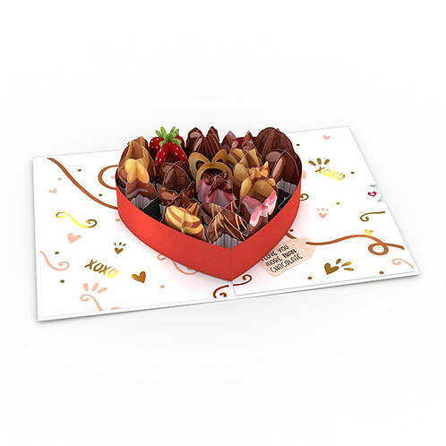 Love You More Than Chocolate 3D Card
