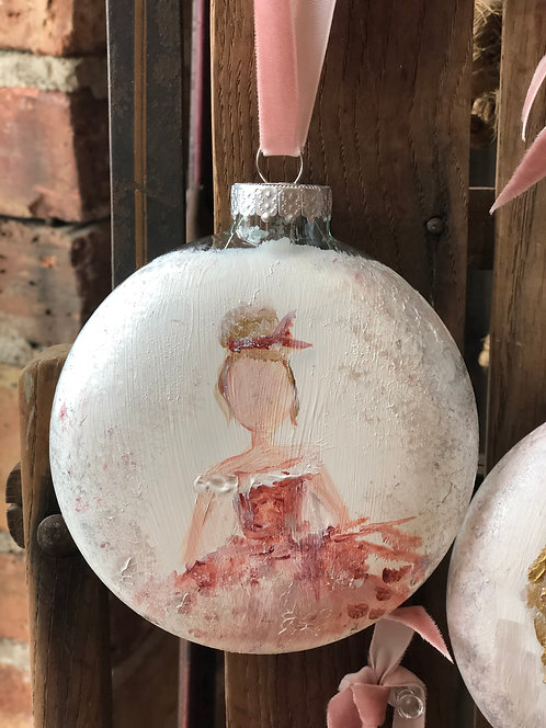 Pink Girl Ornament