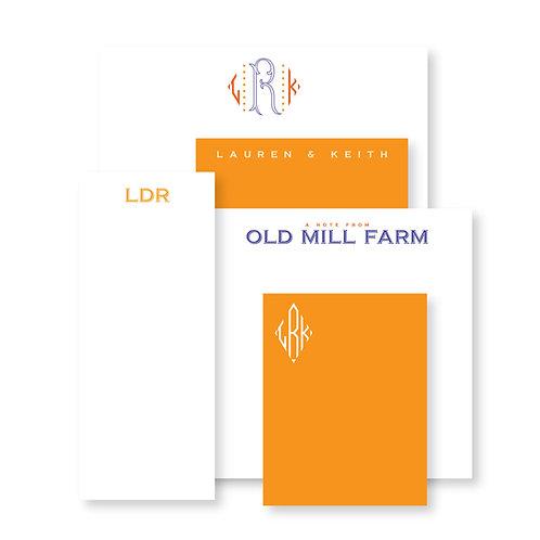 Luxe Set of Orange Custom Notepads