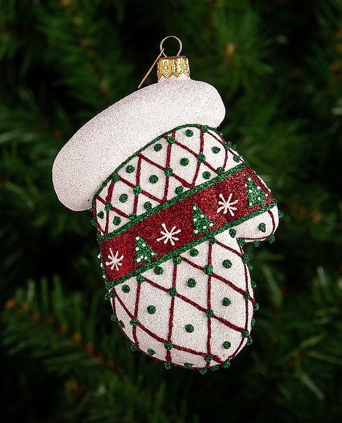 Christmas Tree Mitten Ornament
