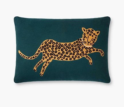 Leopard Embroidered Pillow