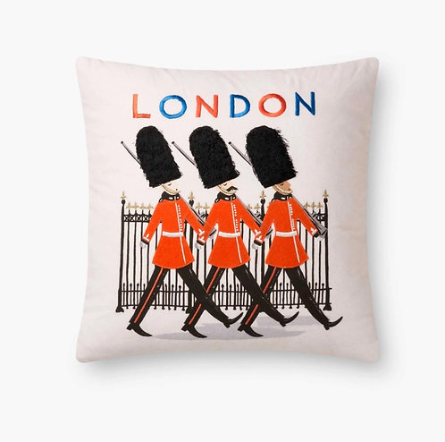 Queen's Guard Embroidered Pillow